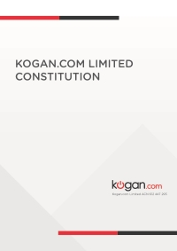Kogan.com Limited Constitution